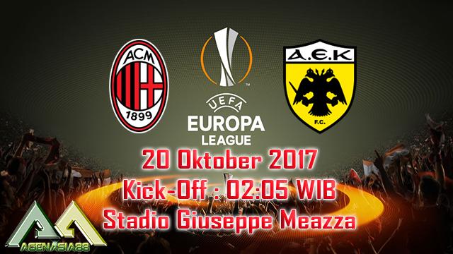 Prediksi Milan Vs AEK Athens 20 Oktober 2017